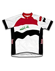 Iraq Flag Short Sleeve Cycling Jersey for Women