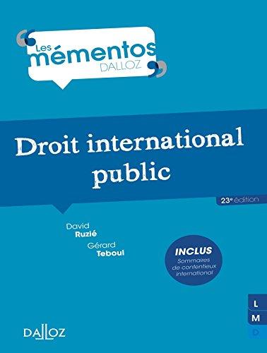 Droit international public (Mémentos)