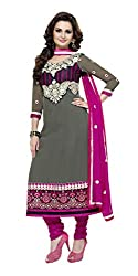 Abida Chiffon Gray Color Unstrich Suit of Monika Bedi