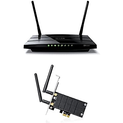 Archer C5 AC1200 Dual Band Wireless AC Gigabit Router and AC1300 Wireless Dual Band PCI Express Adapter