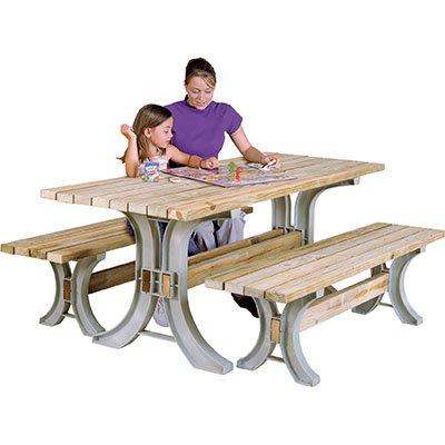 2x4basics  AnySize Picnic Table Kit, Sand