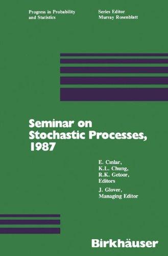 Seminar on Stochastic Processes, 1987 (Progress in Probability)