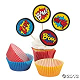Superhero Cupcake Picks and Baking Cups - 50 cups/50 picks
