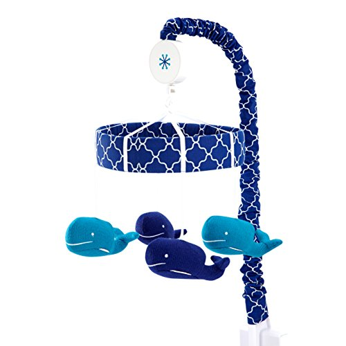 Happy Chic Baby Jonathan Adler Party Whale Crib Mobile, Blue/White