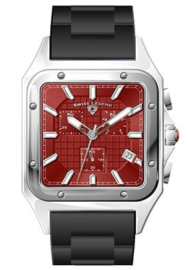 Swiss Legend Men's SL-40044-55 St. Tropez Collection Square Red Watch