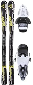 Buy Fischer Viron Trend Fp9 Skis w  RS 10 Bindings White Black Mens by Fischer