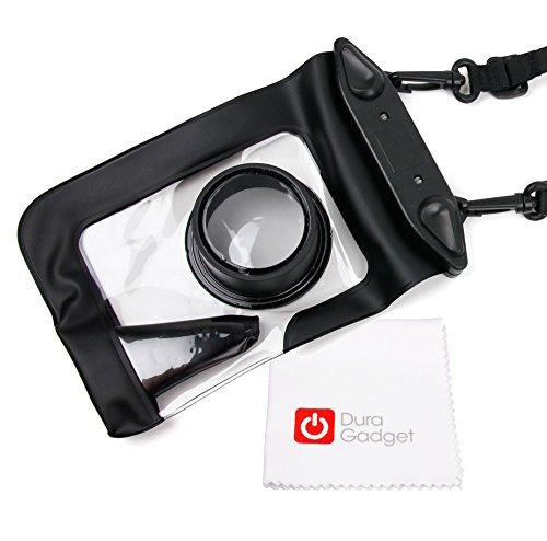 Deluxe-Kamerahülle / Kameratasche - wasserdicht mit Zoomraum für Panasonic Lumix DMC-TZ57, DMC-TZ70, DMC-ZS50, DMC-FT30, DMC-TS30 und DMC-SZ10 Kompakt Kameras - inklusive Microfaser Reinigungstuch - von DuraGadget