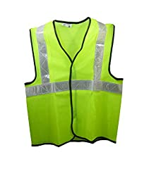 Brite Eye Reflective Safety Green Polyster Jacket