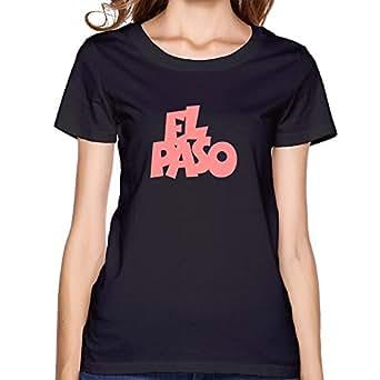 Amazon.com: GZG Women's El Paso Cotton T-Shirt Tee Black XXL: Clothing