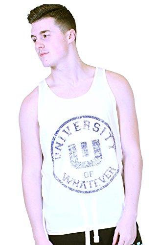 UOW Athletic Tank Top Men Varsity White XL
