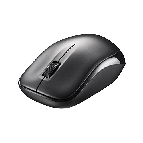 BUFFALO wireless (2.4 GHz) optical mouse static sound / 3 button black BSMOW20SBK