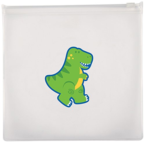 Stephen Joseph Dino Reusable Snack Bags, Clear - 1