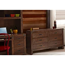 Better Homes and Gardens Kids Union Station 6-Drawer Dresser, Rustic Cherry