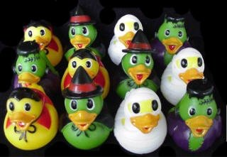 Dozen Assorted Halloween Costume Mini Rubber Ducks Ducky - 2.5""
