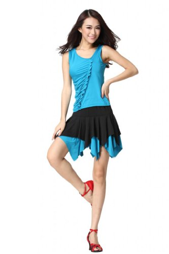 Feimei Women's Latin Dance Top And Short Skirt