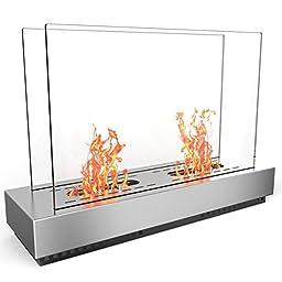 Elite Flame Phoenix Free Standing Ventless Ethanol Fireplace