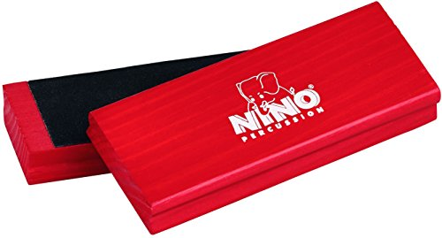 Nino Percussion NINO940R Wood Sand Block Pair, Red