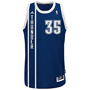 Buy NBA Oklahoma City Thunder Navy Swingman Jersey Kevin Durant #35 by adidas