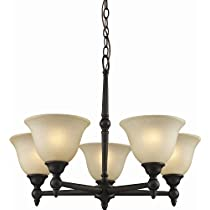 Z-Lite 901-5-BAC 5 Light Chandelier in Burnt Antique Copper