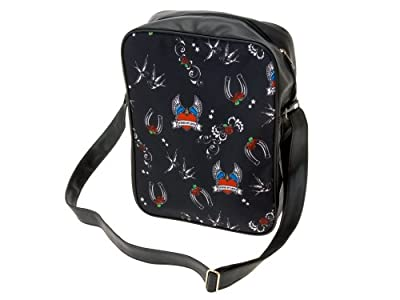 Wanted Shoulderbag with Tattoo Print