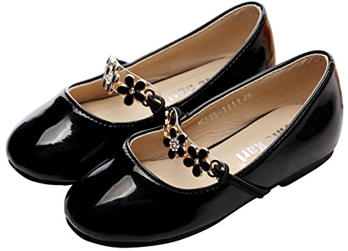 ChicKarl® Children Kids Girls PU Leather Metal Studded Cute Mary Jane Flats