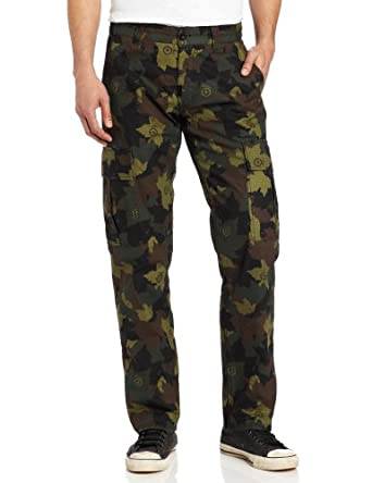 LRG Men's Big-Tall Core Collection Stretch Cargo Pant, Olive Camouflage, 40