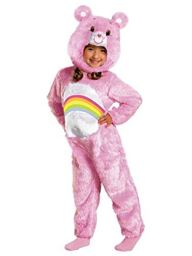 [Mygems Deluxe Care Bears Plush Cheer Bear Toddlers Costume] (Deluxe Cheer Bear Costumes)
