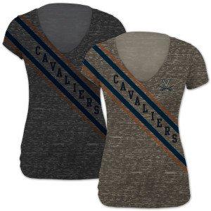 UVA Ladies Cavaliers Sash Slim V Neck T-Shirt by Virginia Cavaliers