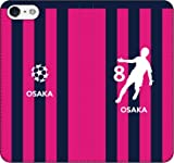 iPhone用選択可:サッカー手帳ケース(C_大阪:8番_A)レザー/手帳型 iPhone6/6s用