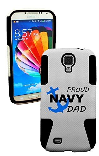 Phonetatoos (Tm) For Galaxy S4 Proud Navy Dad Plastic & Silicone Case -Lifetime Warranty (Black)