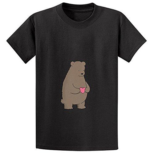 bear-heart-pink-girls-crew-neck-print-t-shirt-black