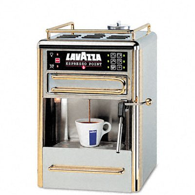 Lavazza 80114 One-Cup Espresso Beverage System, Chrome/Gold Stainless Steel