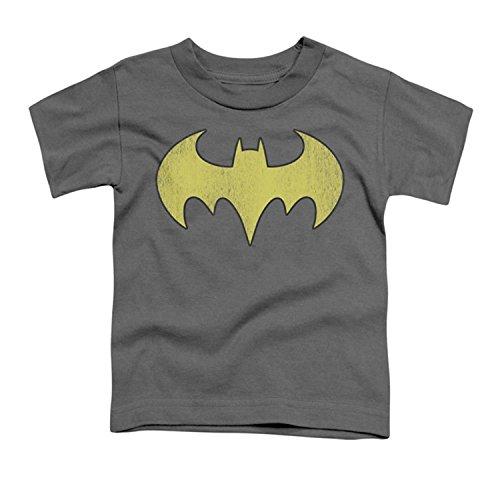 DC/BATGIRL LOGO DISTRESSED - Short Sleeve YOUTH T-Shirt - CHARCOAL