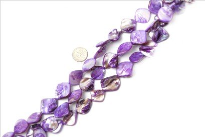 15x20mm freefrom purple Sea shell beads strand 15
