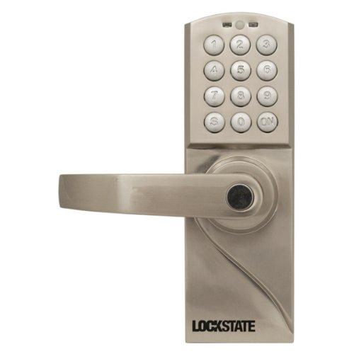 Lockstate Ls-Rdj-L-S 10-Code Keyless Digital Door Lock, Left-Hand, Silver