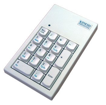 Kinesis Corporation Ac210Musb-Wht Kinesis Low-Force Keypad For Mac White