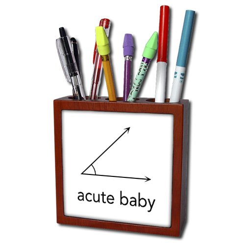 Ph_123039_1 Evadane - Baby Newborn Quotes - Acute Baby. Geometry. Math Humor - Tile Pen Holders-5 Inch Tile Pen Holder front-238224