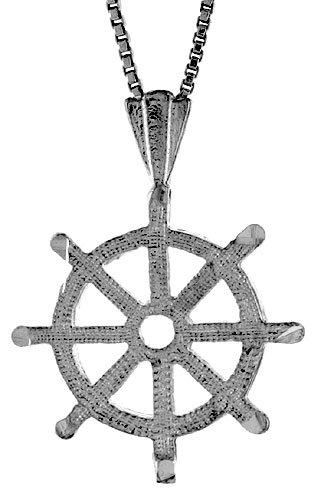 Sterling Silver Mariner's Cross Pendant, 3/4 inch