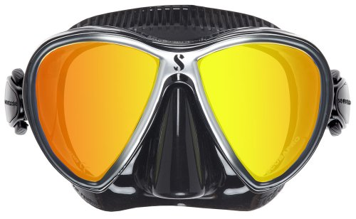 Scubapro Synergy Twin Trufit Scuba Diving and Snorkeling Mask - Mirrored Black/Silver
