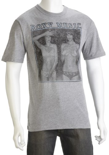 Junk Food Men's Roxy Music T-Shirt Steel Heather AT747-155 Small