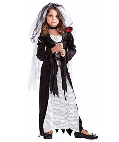 Bride of Darkness Child Dress Up Kids Halloween L 10-12 Dark Goth Vampire Witch