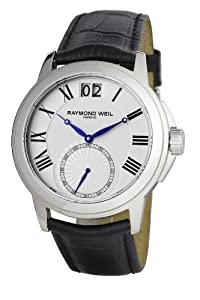 Raymond Weil Men's Stainless Steel black leather strap Watch 9578-Stc-00300