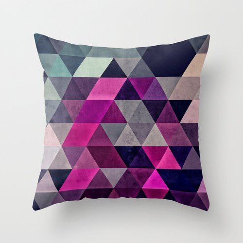 Artistdecor Slimmingpiggy Comfortable Bedding Triangle Grid Pattern With Large Difference In Color Difference 20x20 Inch Pillow Case Pillow Covers 20