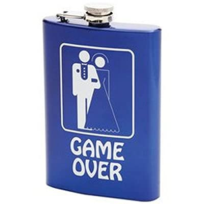 Maxam 8oz Stainless Steel Flask- Game Over