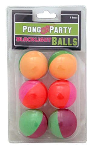 Island Dogs Half and Half Blacklight Pong Balls