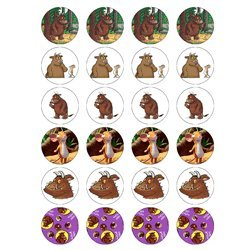 The Gruffalo style 24 Edible Wafer Paper Fairy/Cup Cake Toppers on an A4 sheet – Birthday Cake and Party Idea