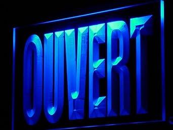 Enseigne Lumineuse j180-b OUVERT Open Bar Beer N?on