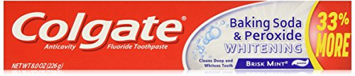 Colgate Baking Soda and Peroxide Whitening Bubbles Toothpaste, Brisk Mint, 8 Ounce (Pack of 6) (Soda 6 Pack compare prices)