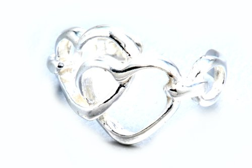 Ear Cuff Hollow Love Hearts Design .925 Sterling Silver Include Special Gift Pouch.