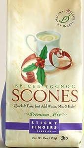 Sticky Fingers Spiced Eggnog Scone Mix, 16 ozs